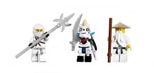 LEGO spinjitzu dojo figures